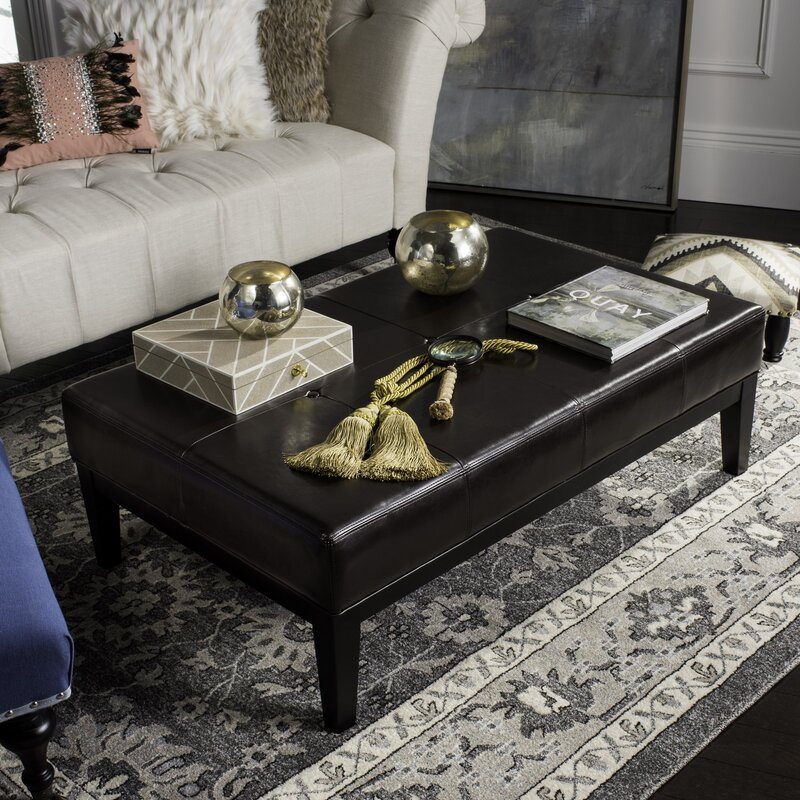 "Maiden 48.4"" Tufted Rectangle Cocktail Ottoman"