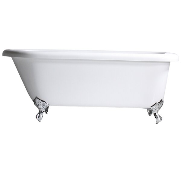 Hotel Acrylic Classic 62 x 32 Freestanding Soaking Bathtub by Baths of Distinction