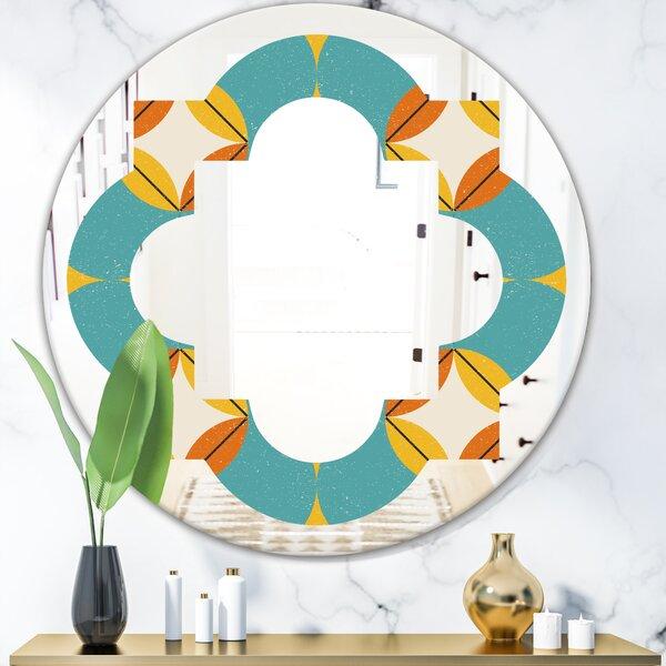 Quatrefoil Diamond IV Cottage Americana Frameless Wall Mirror