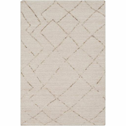 Morton Hand-Woven Khaki/Cream Area Rug by Gracie Oaks