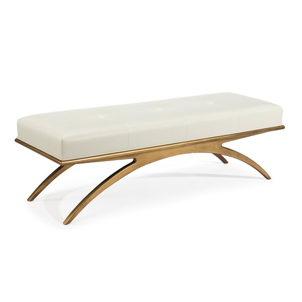 Euclidean Faux Leather Bench by John-Richard