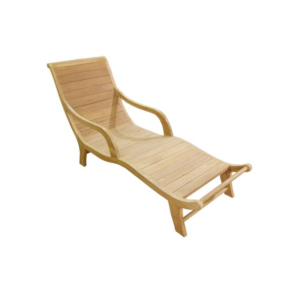 Teak Chaise Lounge by D-Art Collection