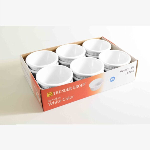 Round Melamine 4 Oz. Fluted Ramekin (Set of 12) by Thunder Group Inc.