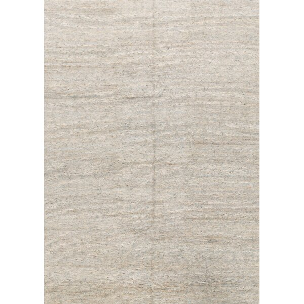 Handmade Flatweave9.9' x 13.9' Light Blue/Natural Area Rug