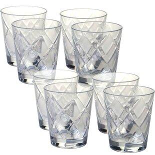Superior Diamond Acrylic 15 Oz. Old Fashioned Glasses (Set Of 8)