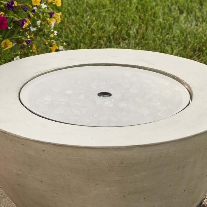 Crystal Fire Round Fire Pit Center Disc - The Outdoor GreatRoom Company Crystal Fire Round Fire Pit Center