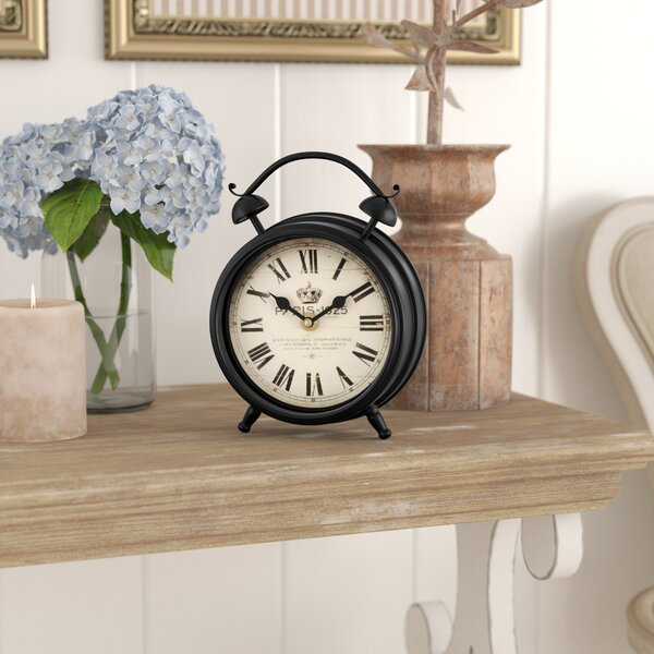 Paris 1925 Old World-Inspired Tabletop Clock by Lark Manor