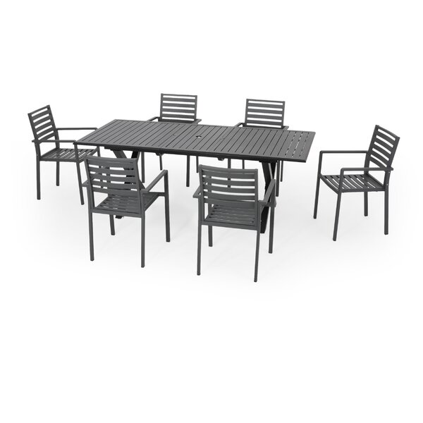 Anemone Outdoor 7 Piece Dining Set by Red Barrel Studio