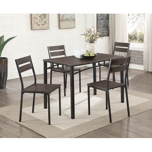 Tunstall 5 Piece Extendable Dining Set by Williston Forge