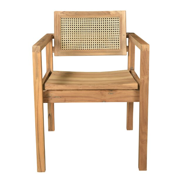Reeder Caned Teak Dining Chair by Bayou Breeze
