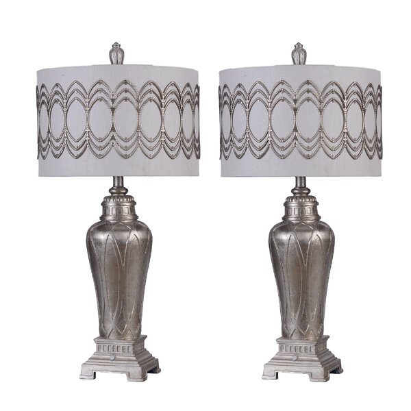 Cannington Silver 33 Table Lamp (Set of 2) by Immacu-Lamps