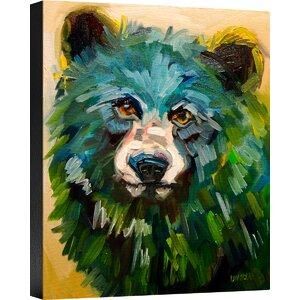 'Fluffy Cub' Painting Print on Canvas by Ashton Wall Décor LLC