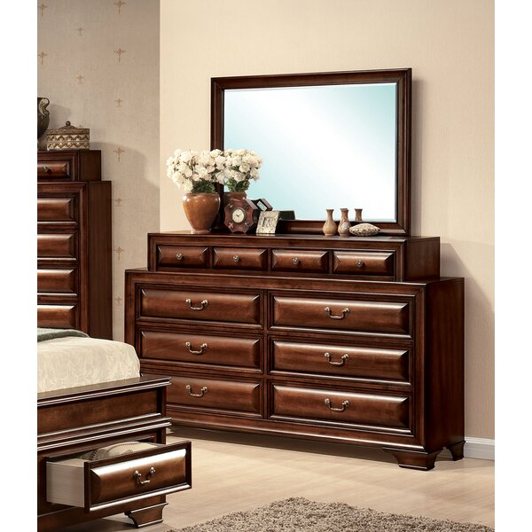 Annalee 10 Drawer Double Dresser with Mirror by Darby Home Co