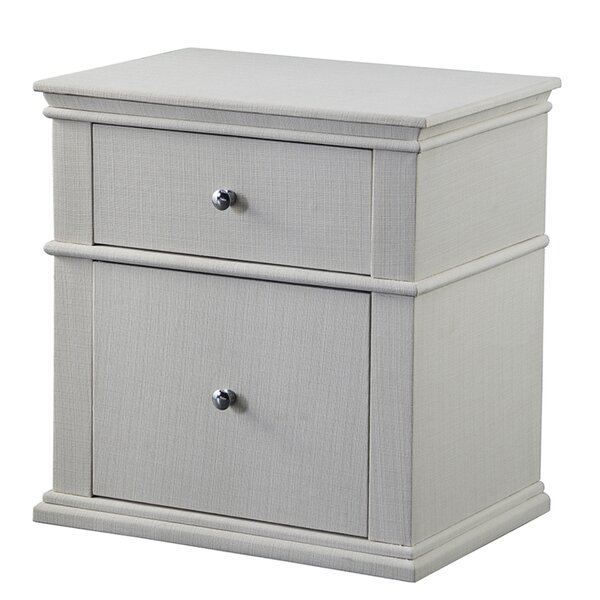 Maner Upholstered 2 Drawer Nightstand by Gracie Oaks