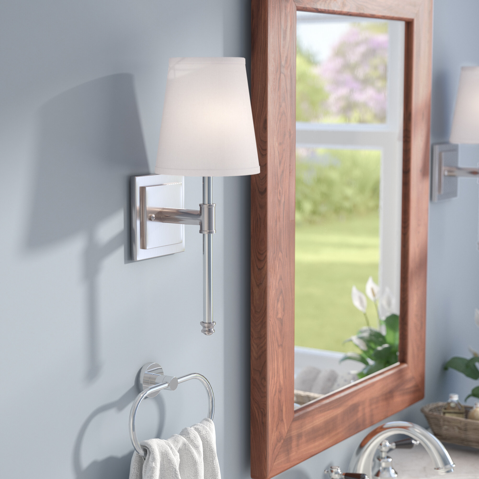 Three Posts Fielding 1-Light Bath Sconce & Reviews | Wayfair
