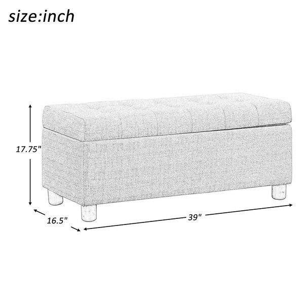 Amenata Upholstered Flip Top Storage Bench by Latitude Run