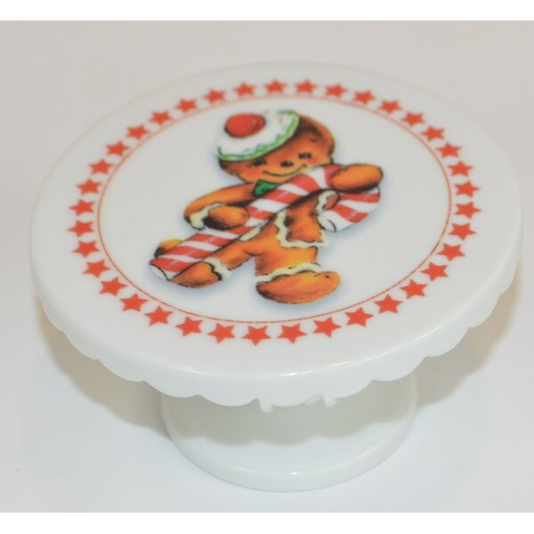 Gingerbread Man with Candy Cane Cake Stand by The French Bee