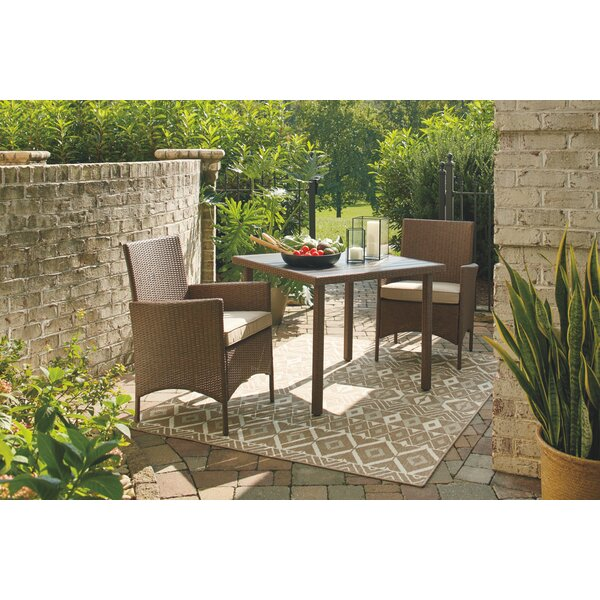 Tristin 3 Piece Bistro Set with Cushions by Bay Isle Home