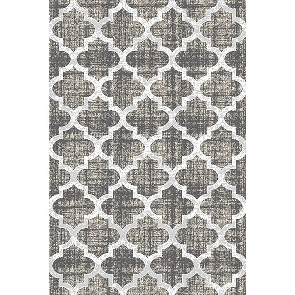 Allegan Abstract Gray/Ivory Area Rug by Ivy Bronx