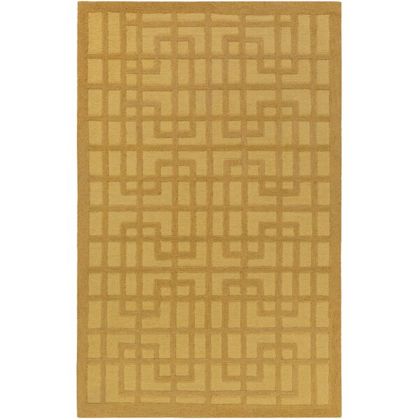 Rufina Hand-Crafted Gold Area Rug by Mercer41