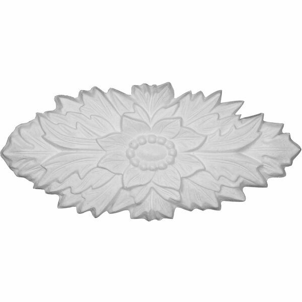 Oxford 3 1/8H x 7 1/8W x 5/8D Rosette Applique by Ekena Millwork