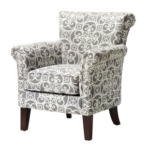Charming Olson Accent Club Chair With Arms Upholstered Silver Nail Head