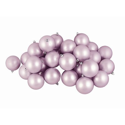 Matte Shatterproof Christmas Ball Ornament Color: Lavender Purple