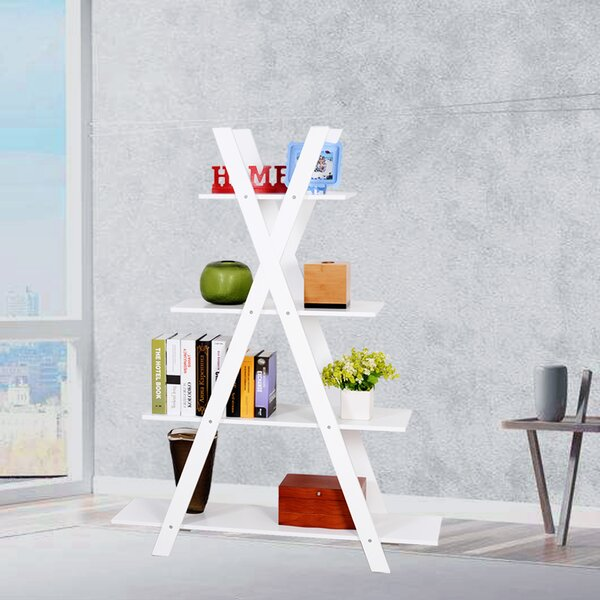 Swofford White X Shape Etagere Bookcase By Latitude Run