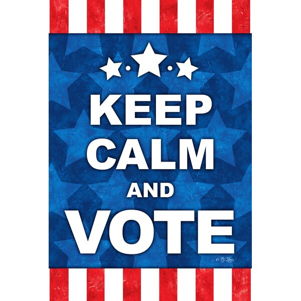 Keep Calm and Vote 2-Sided Garden flag by Toland Home Garden
