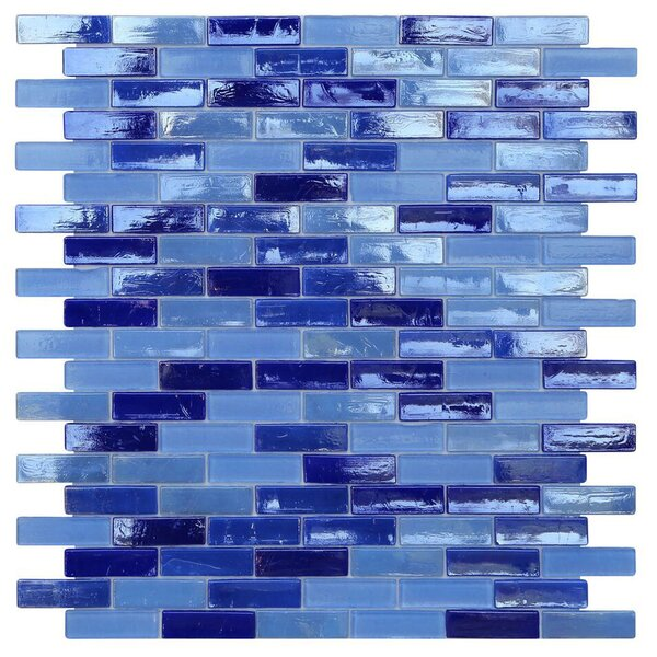 Opal 0.63 x 1.88 Glass Mosaic Tile in Odyssey by Kellani