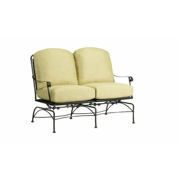 Fullerton Dual Spring Rocking Loveseat with Cushions by Woodard
