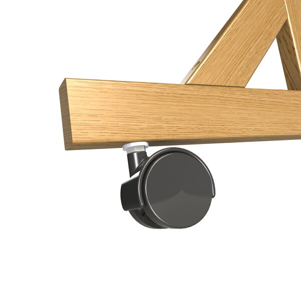 Ghent Casters for Wood Frame Reversible, 4-Count (Set of 4) by Ghent