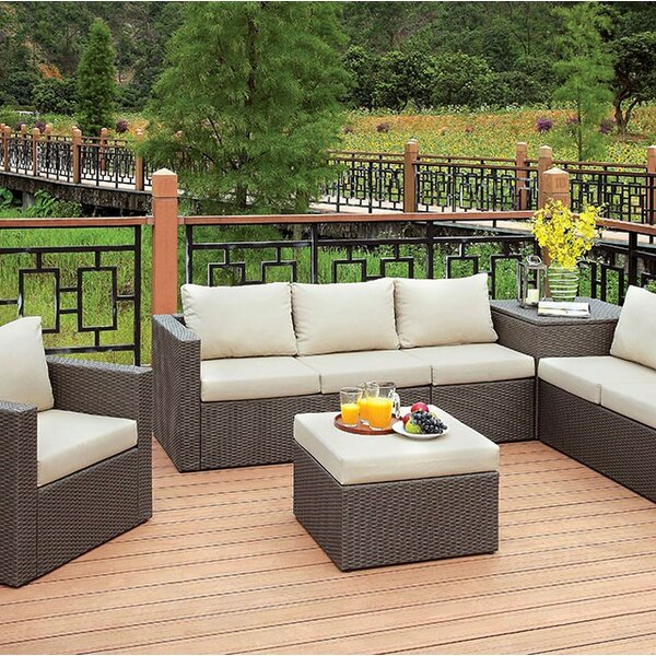 Mckee 5 Piece Rattan Sofa Seating Group with Cushions by Gracie Oaks