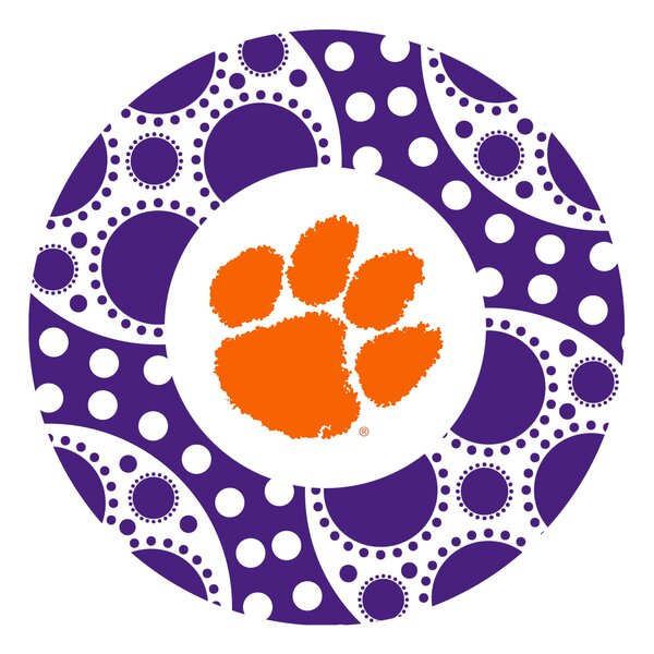 Clemson University Circles Collegiate Coaster (Set of 4) by Thirstystone
