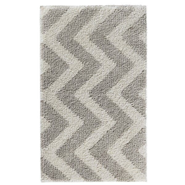 Munson Arrow Rectangle Cotton Blend Non-Slip Geometric Bath Rug