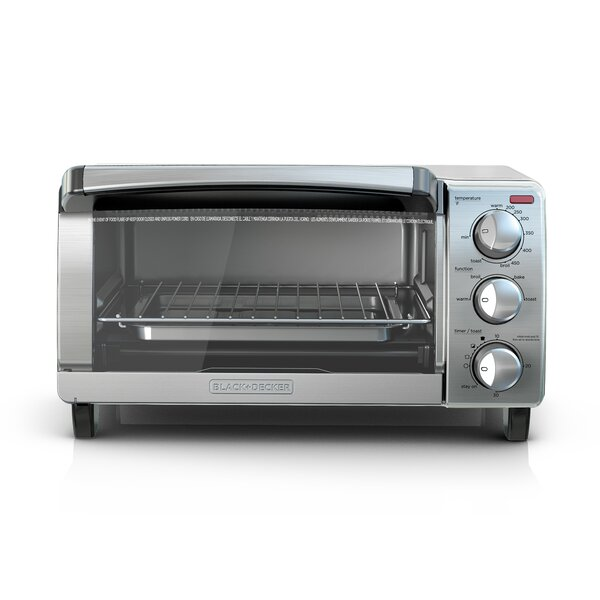 4-Slice Stainless Steel Toaster Oven with Natural Convection by Black + Decker