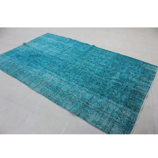 Vintage Hand-Knotted Blue Area Rug by Wildon Home ®