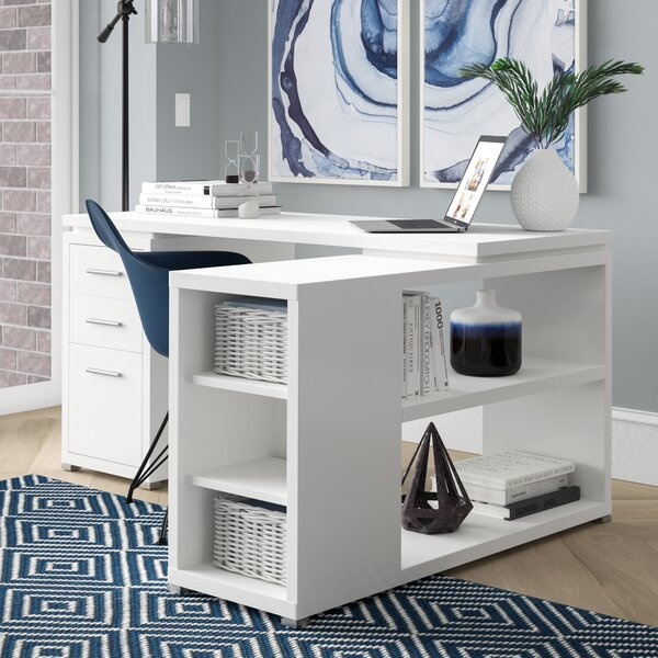 Senga L-Shape Executive Desk by Mercury Row