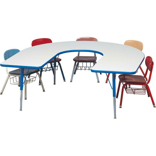 66 x 60 Horseshoe Activity Table by Columbia Manufacturing Inc.