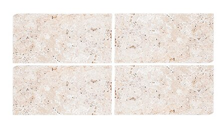 Tumbled 3 x 6 Travertine Field Tile in Ivory by Parvatile