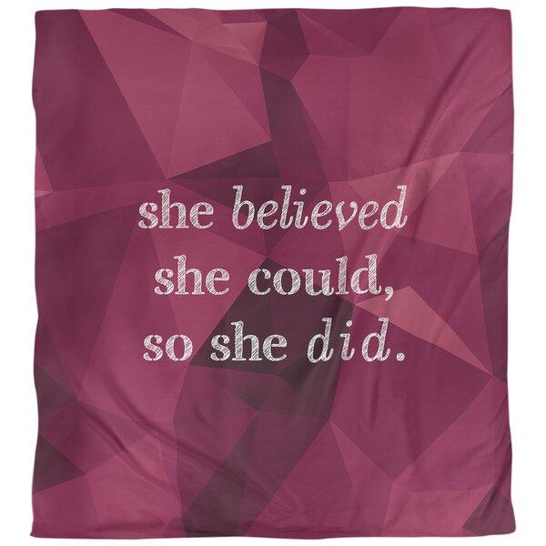 Women Empowerment Quote Single Duvet Cover