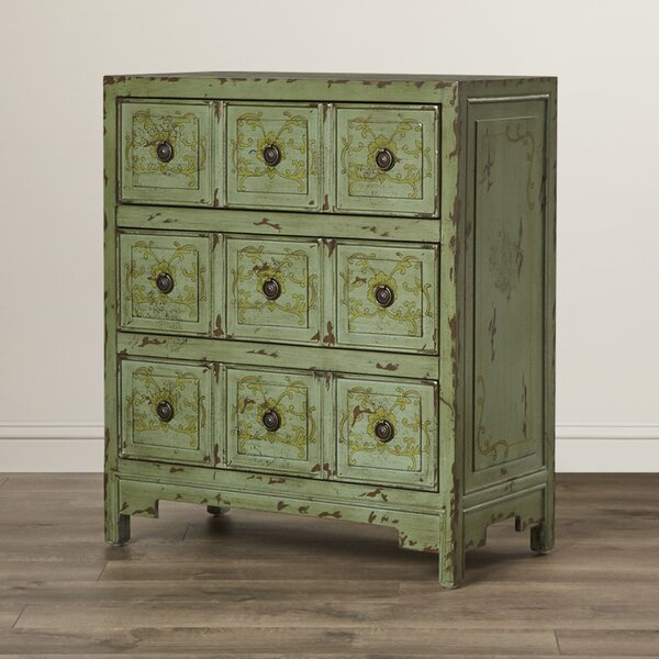 Callisburg 3 Drawer Accent Chest by Bungalow Rose Bungalow Rose