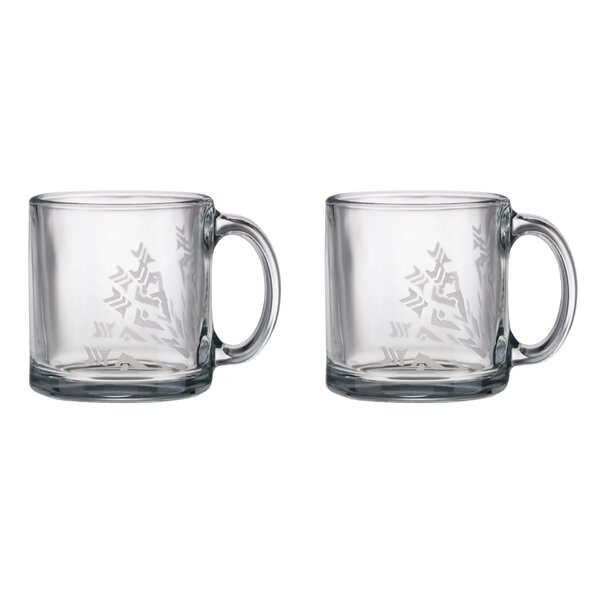 Perforated Board Design 13 oz. Glass Mug (Set of 2) by Frank Lloyd Wright