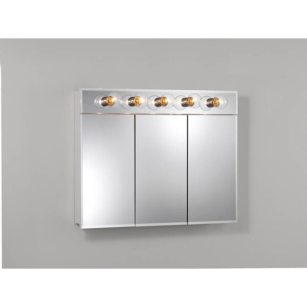 Ashland 36 x 27.75 Surface Mount Medicine Cabinet with Lighting by Jensen