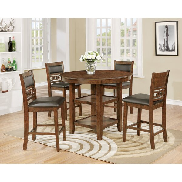 Cally Counter Height Upholstered Dining Chair (Set of 4) by Crown Mark