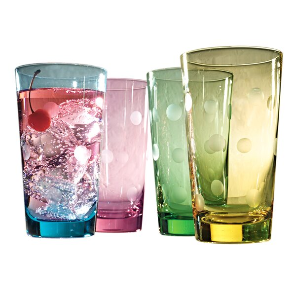 Brumit Polka Dot 20 Oz. Highball Glass (Set of 4) by Ivy Bronx