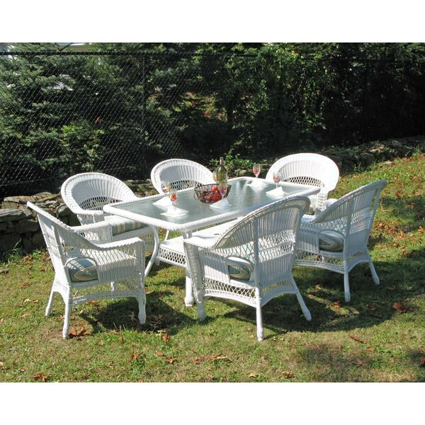 Camacho 7 Piece Dining Set with Cushion by August Grove