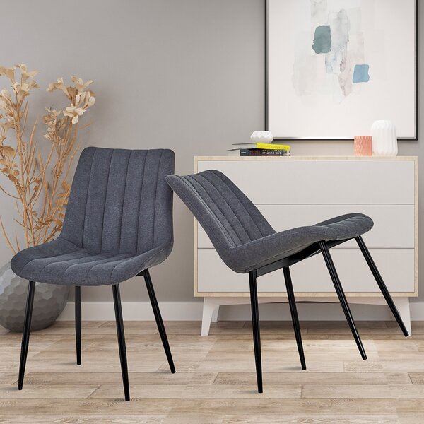 Amsterdam Linen Upholstered In (Set Of 2) By 17 Stories