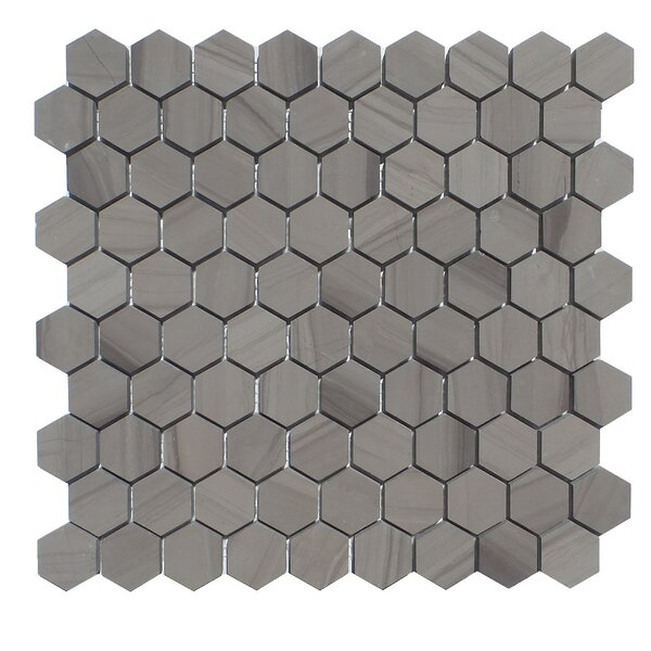 1.25 x 1.25 Natural Stone Mosaic Tile in Athens Gray by Mulia Tile