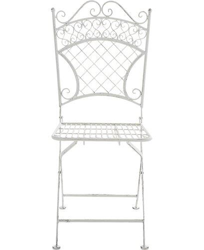 Klappbarer Gartenstuhl Marlow Home Co. Farbe: Weiß antik | Garten | Marlow Home Co.